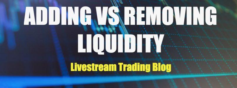 Adding vs Removing Liquidity